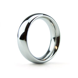 Silver band - metal cock ring