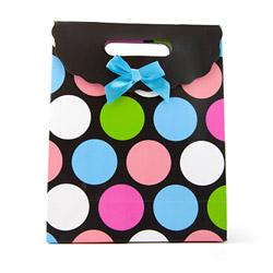 Miscellaneous - Multi-color polka dot gift tote medium - view #2