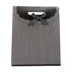 Miscellaneous - Gift tote with stripes medium - view #2