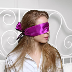 Double sided satin blindfold