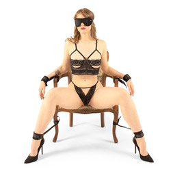 Cuffs and blindfold set - Beginner soft bondage kit - view #1