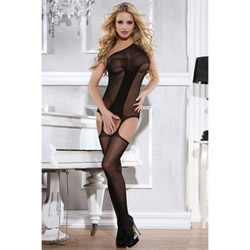 Elegant one shoulder bodystocking