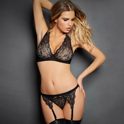 Sensual adventure - bra, panty and garter belt set