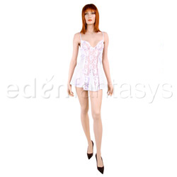 Satin and lace chemise set - chemise and panty set
