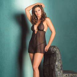 Stardust chemise with g-string - chemise and panty set