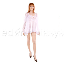 Chiffon peignoir set - chemise and panty set
