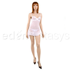 Embroidered elegance chemise and thong