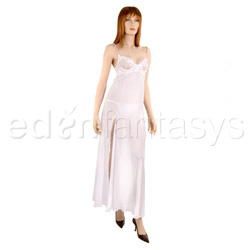Iridescence gown with thong