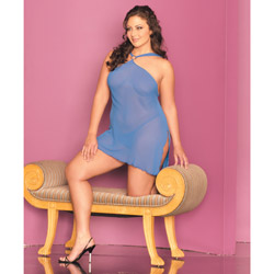 Loungerie chemise with side ties - dress