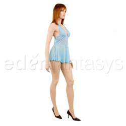 Blue mist babydoll with g-string - babydoll and panty set