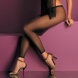 Sheer footless pantyhose