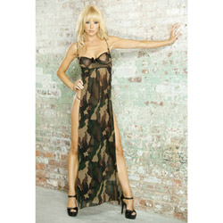 Bullet proof long gown & g-string