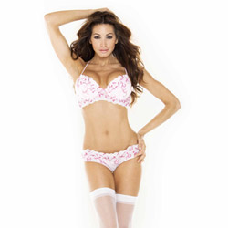 Delicate angels pink padded bra - bra and panty set