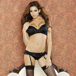 Temptress padded bra and panty set