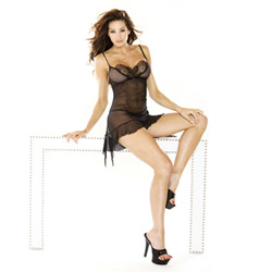Butterfly accent red chemise - chemise and panty set