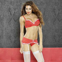 Perfect pin up bra and garter set - bra and panty set