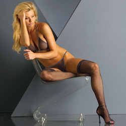 Glitter thigh high stockings - hosiery