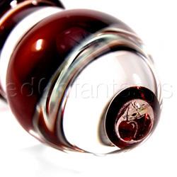Glass dildo - Cherry dichro glass dildo with spiral ribs - view #3