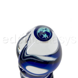 Glass G-spot shaft - Moon & star dichro image tipped G - spot shaft - view #3