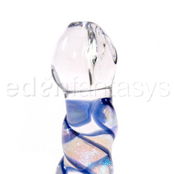 Glass G-spot shaft - Mini dichroic pocket rocket - view #2