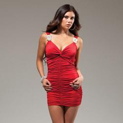 Red Novak mini dress