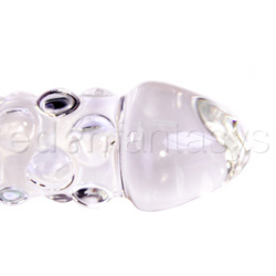 Glass dildo - Rocky road glass dildo with handle - view #3