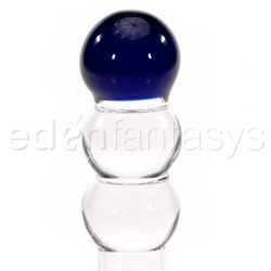 Dildo de vidrio - Mini blue ball explorer pocket rocket - view #2