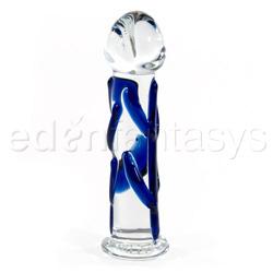 Glass dildo - Mini blue veined pocket rocket - view #2