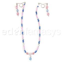 Nipple jewelry - Beaded chain nipple huggers - view #4