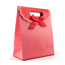 Miscellaneous - Red gift tote with stripes - view #1