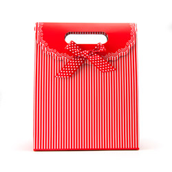 Miscellaneous - Red gift tote with stripes - view #2