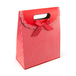 Miscellaneous - Red gift tote with stripes - view #3