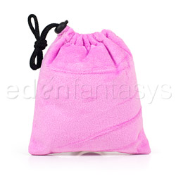 Pink padded pouch - sex toy storage