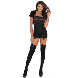 Heart bodystocking - crotchless bodystocking