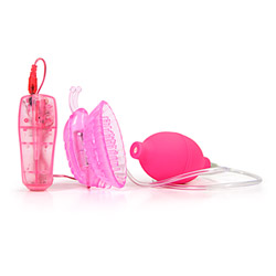 Pleasure pump butterfly - clitoral stimulator