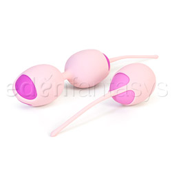 Velvet plush kegel kit - exerciser for vaginal muscles