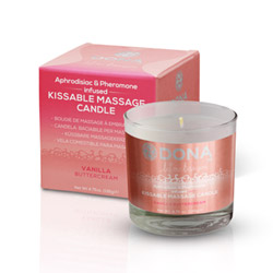 Dona kissable massage candle - flavored massage candle