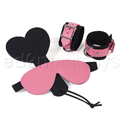Pink bound leather kit - bdsm kit