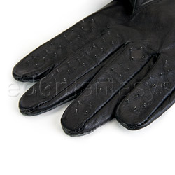 Gloves - Leather vampire gloves - view #2