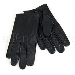 Leather vampire gloves - light  bdsm kit