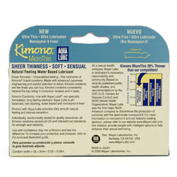 Male condom - Kimono microthin ultra lubricated with aqua lube - view #4