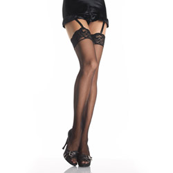 Lace top thigh high - thigh highs