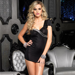 Mini dress with rhinestones