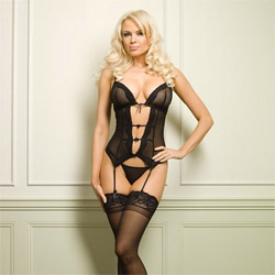 V cami garter - camigarter and panty set