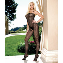 Seamless crochet bodystocking - crotchless bodystocking