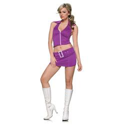 Purple soda pop girl costume