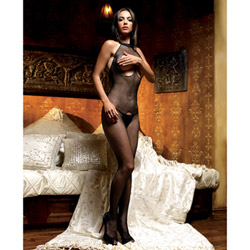 Peek a boo fishnet bodystocking - crotchless bodystocking