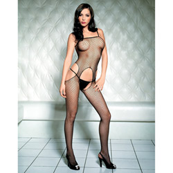 Industrial net bodystocking - crotchless bodystocking