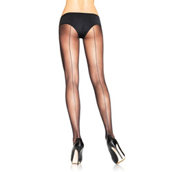 Sheer backseam pantyhose - hosiery