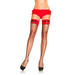 Diamond net thigh high stockings - hosiery
